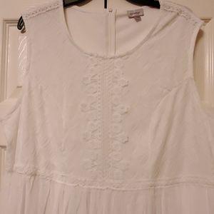 Pretty in White! Dress, Size 18/20